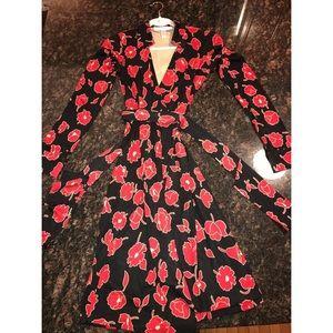 Diane Von Furstenberg Jeanne Vintage Poppy Dress